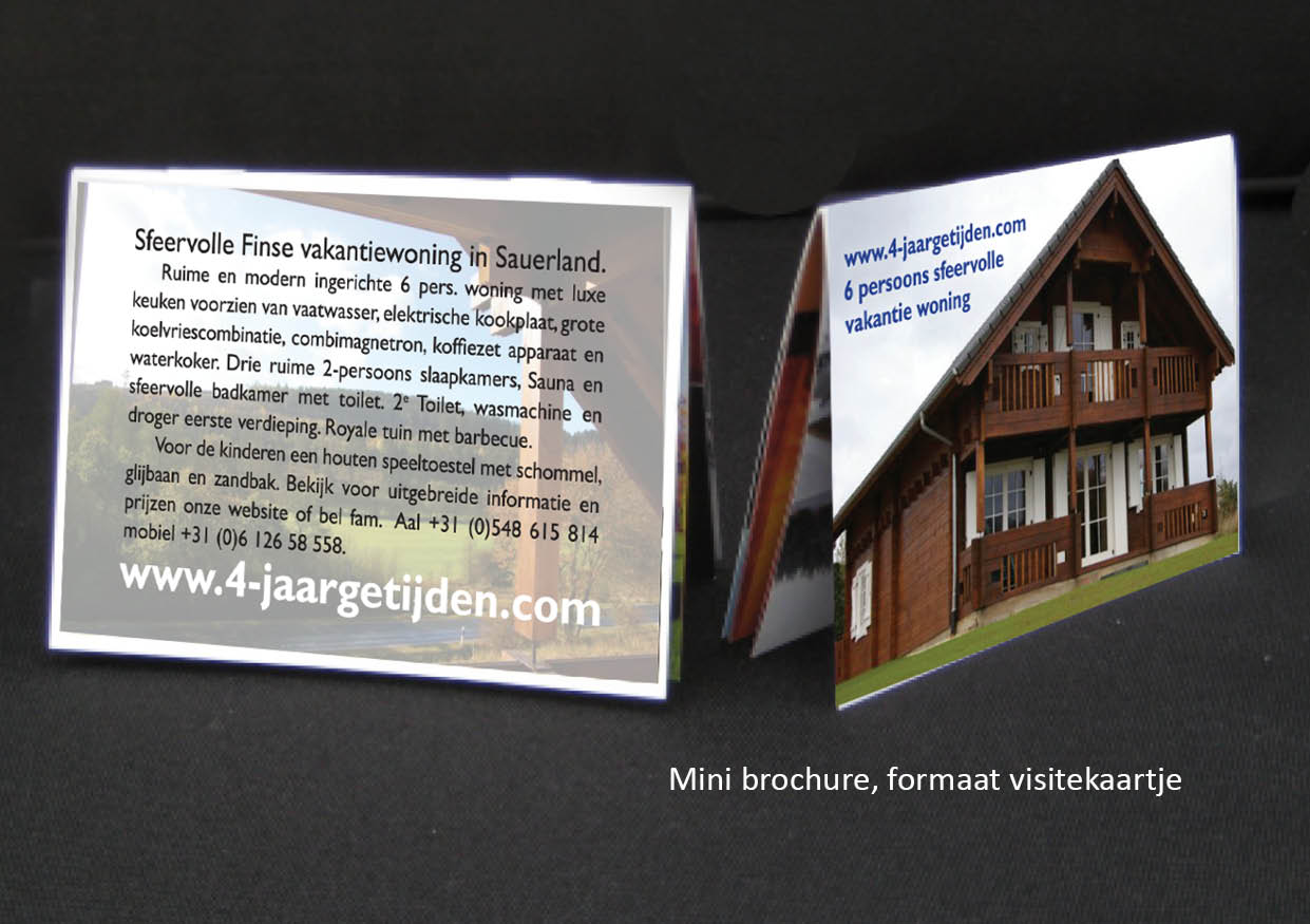 mini brochure reclame Nijverdal