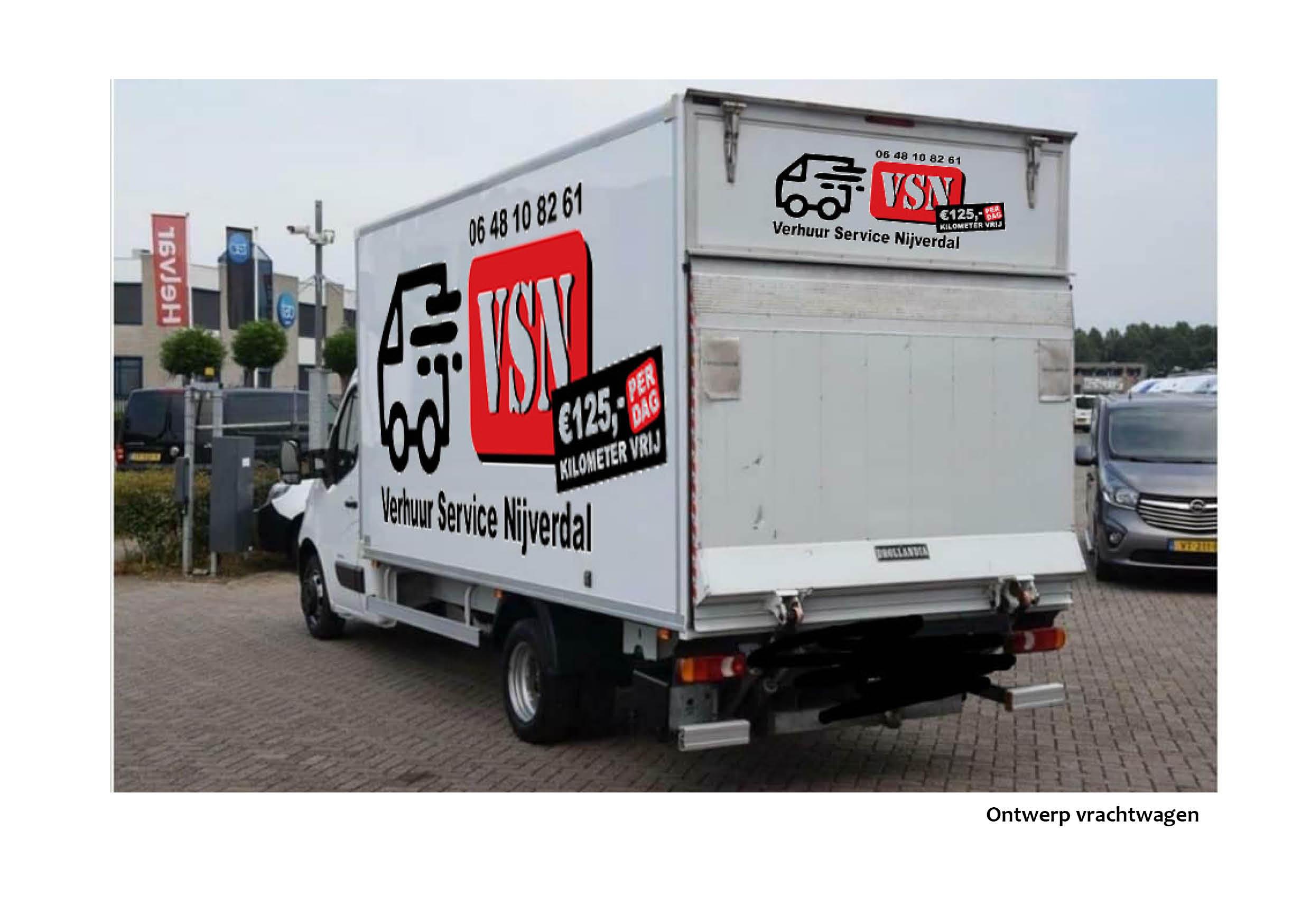 reclamebureau Nijverdal ontwerp vrachtwagen