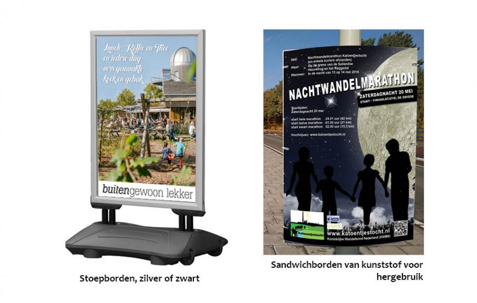 stoepbord en sandwichbord reclame Nijverdal