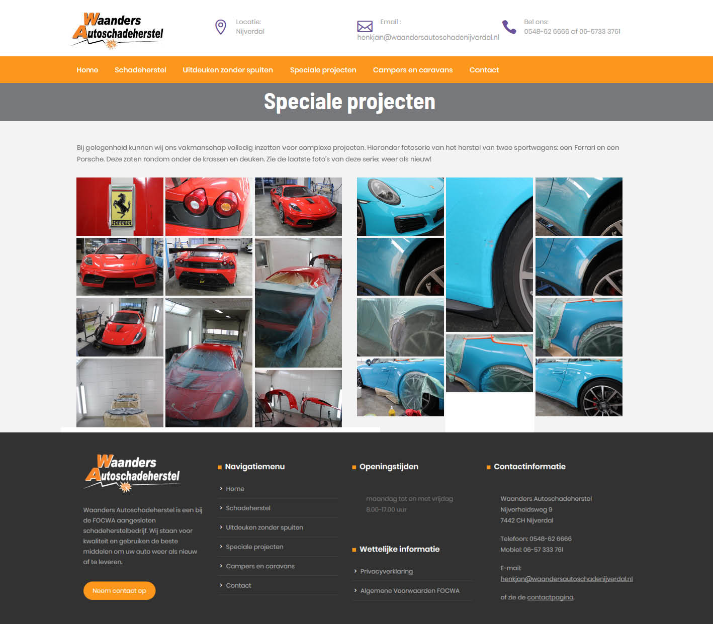 website Waanders Autoschadeherstel
